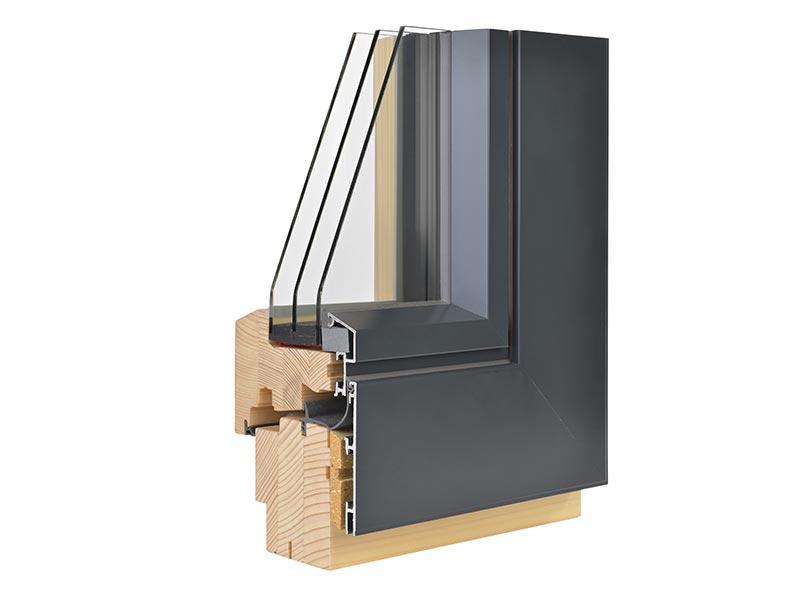 menuiserie extérieures en  aluminium et bois à Lille
